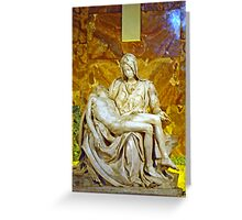 La Pieta, St. Peter's Basilica, The Vatican  Greeting Card