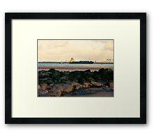 Cargo ship on the Mersey Framed Print