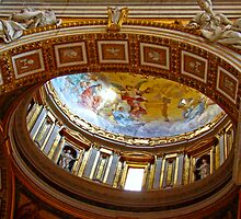 Interior Dome, St. Peters Basilica, The Vatican by Al Bourassa