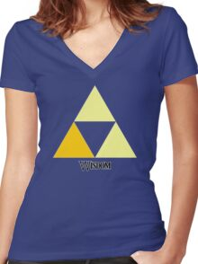 Triforce of Wisdom Women's Fitted V-Neck T-Shirt