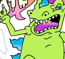 """""""Haters Gonna Hate"""" Reptar (white) Sticker"""