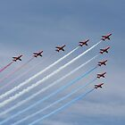 Red Arrows by Peter Barrett