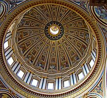 Interior Cupola, St. Peter's Basilica, The Vatican by Al Bourassa