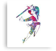 Mulan Disney Princess Watercolor Canvas Print