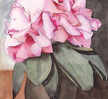 A Vase Full Of Azaleas by Ken Powers