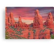Madonna & Child with Two Nuns Red Rocks in Sedona Canvas Print