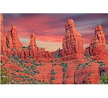 Madonna & Child with Two Nuns Red Rocks in Sedona Photographic Print