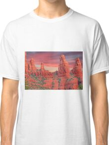 Madonna & Child with Two Nuns Red Rocks in Sedona Classic T-Shirt