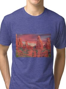 Madonna & Child with Two Nuns Red Rocks in Sedona Tri-blend T-Shirt
