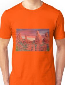 Madonna & Child with Two Nuns Red Rocks in Sedona Unisex T-Shirt