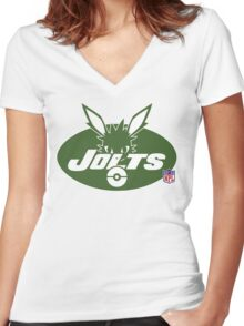 Jolts Women's Fitted V-Neck T-Shirt