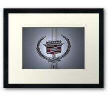 Cadillac Plaque Framed Print