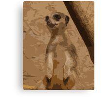 Musing Meerkat Canvas Print
