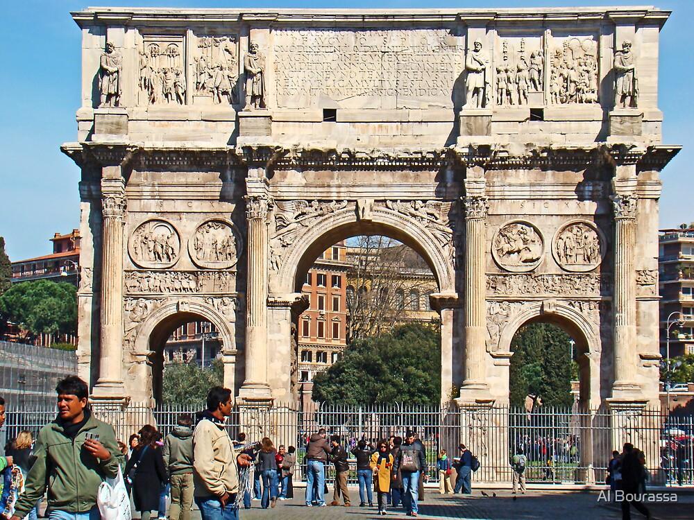 Arch Of Constantine, Rome, Italy  by Al Bourassa