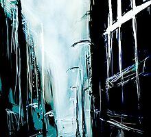 Blue Foggy City by Anwuli Chukwurah