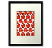 Jello Mold Pattern Framed Print