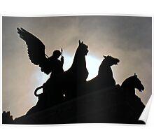 The Quadrigas, Monument to Vittorio Emanuele II, Rome, Italy Poster