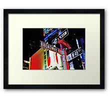 Broadway Magic Framed Print