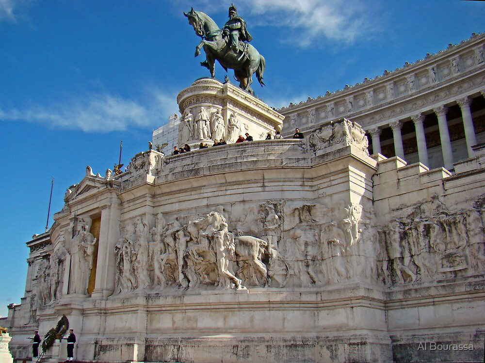 Monument to King Vittorio Emanuele II, Rome, Italy by Al Bourassa