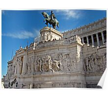 Monument to King Vittorio Emanuele II, Rome, Italy Poster