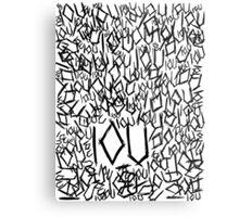 IOU Metal Print