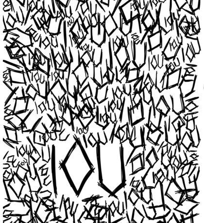 IOU Sticker