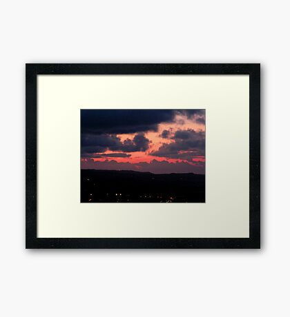 Late Evening over Scarborough Framed Print
