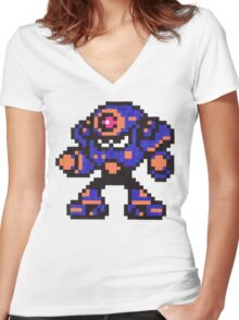 napalm man Women's Fitted V-Neck T-Shirt