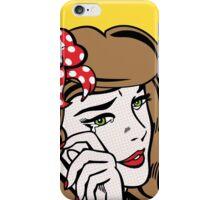 Sad Girl - Brunette iPhone Case/Skin