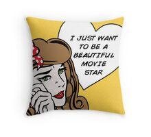 Sad Girl - Brunette Throw Pillow