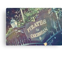 Sign of the Pirates Canvas Print
