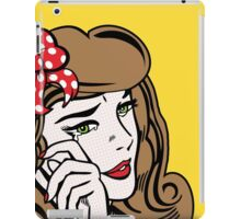 Sad Girl - Brunette iPad Case/Skin
