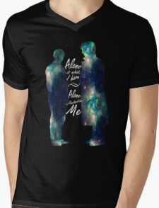 "Johnlock ""ALONE IS WHAT I HAVE"" Mens V-Neck T-Shirt"