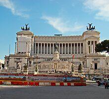 Piazza Venezia Monument to Vittorio Emanuele II, Rome Italy by Al Bourassa