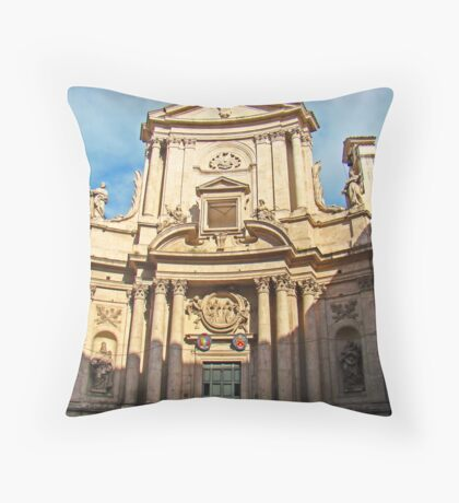Ancient Roman Church Throw Pillow