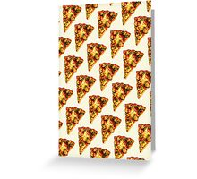 Pizza Pattern Greeting Card