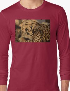 Wild leopard in 7 colors Long Sleeve T-Shirt