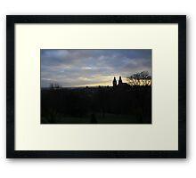 West End Glasgow Silhouette  Framed Print