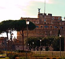 Castel San Angelo, Rome, Italy by Al Bourassa