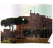 Castel San Angelo, Rome, Italy Poster