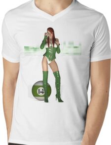 Poolgames 2009 - No. 14 Mens V-Neck T-Shirt