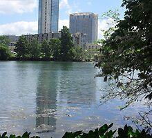 Cityscape from Ladybird Lake - Austin by Navigator