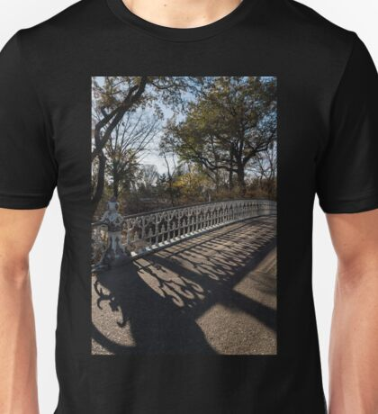 Whimsical Shadows - New York City Central Park Bridge Unisex T-Shirt