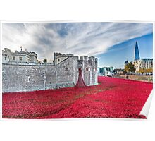 Poppies at The Tower Of London Poster