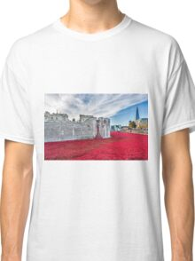 Poppies at The Tower Of London Classic T-Shirt