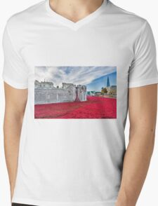 Poppies at The Tower Of London Mens V-Neck T-Shirt