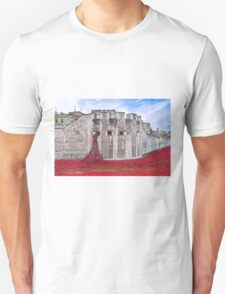 Poppies at The Tower Of London Unisex T-Shirt