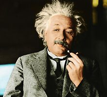Albert Einstein Color s Pipe by GodsAutopsy
