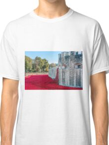 Cascading Poppies, Tower of London Classic T-Shirt