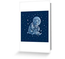 Space Bear Greeting Card